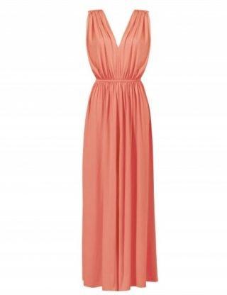 Czerwona sukienka na wesele maxi