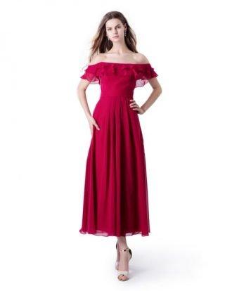 Czerwona sukienka na wesele