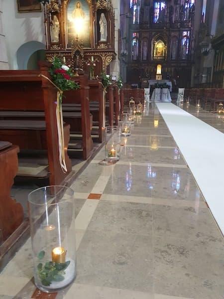 wystrój kościoła na ślub studio projekt marzeń