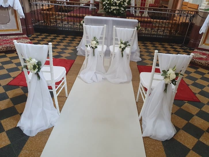 dekoracja kościoła na ślub studio projekt marzeń