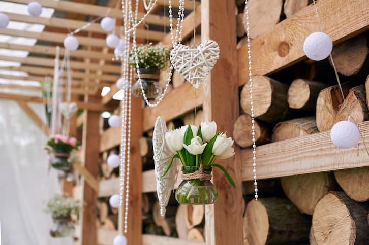 dekoracje wesele w stylu rustykalnym