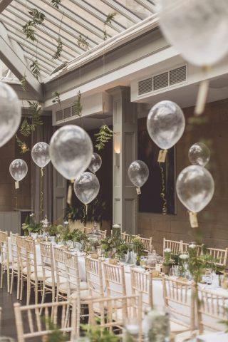 Przezroczyste balony na weselu