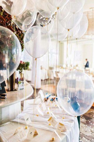 Dekoracje weselne i ślubne z balonów - sala weselna