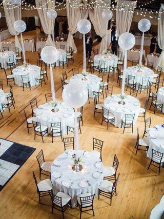 Dekoracje sali weselnej z balonami