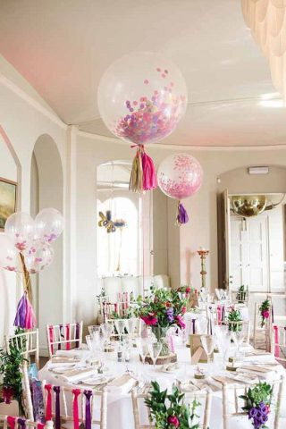 Balony na sali weselnej