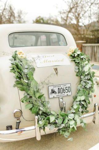 Dekoracja samochodu do ślubu - galeria