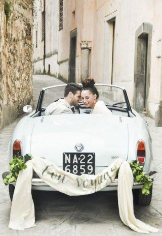 Dekoracja kabrioletu do ślubu