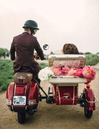 Dekoracja motoru do ślubu