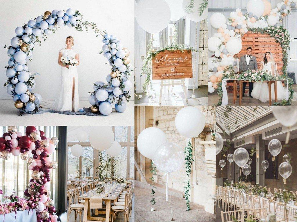 Dekoracje ślubne 2020 - balony