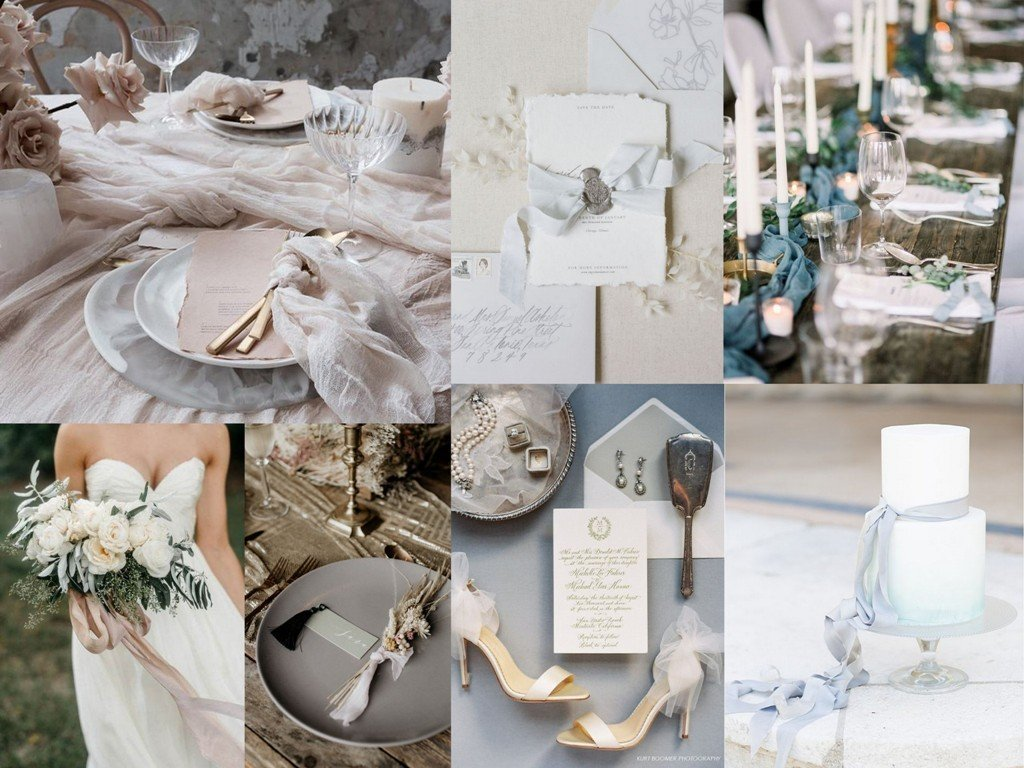 Dekoracje ślubne 2020 - jedwab