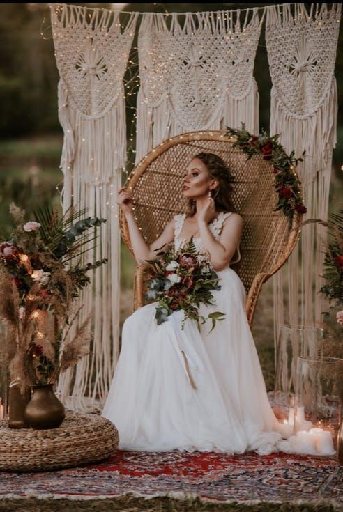 Dekoracje ślubne z rattanu