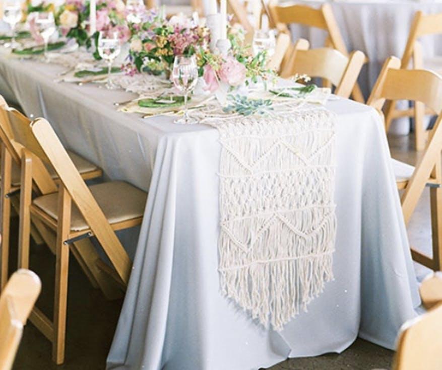 Dekoracje ślubne z makramami