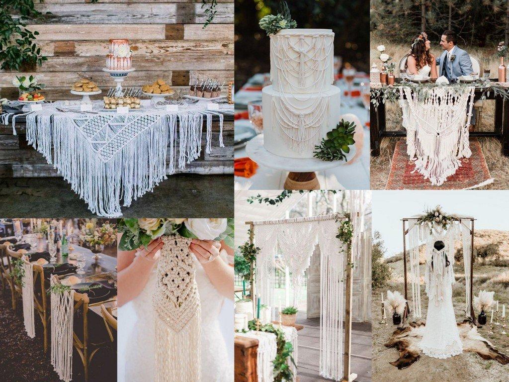 Dekoracje ślubne 2020 - makramy