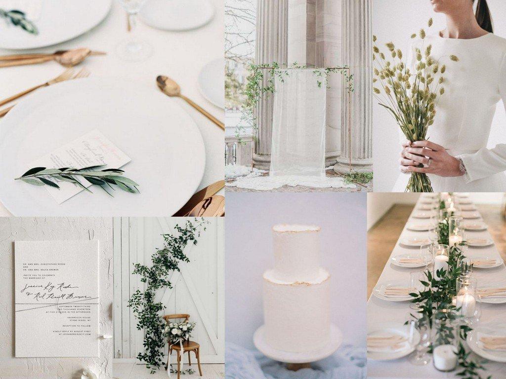 Dekoracje ślubne 2020 - minimalizm