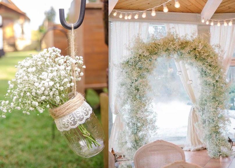 Dekoracje ślubne z gipsówki - zdjęcie 3