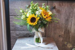 dekoracje ślubne ze słoneczników - zdjęcie 2