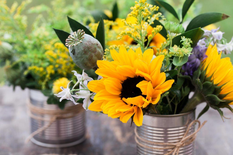 dekoracje ślubne ze słoneczników - zdjęcie 3