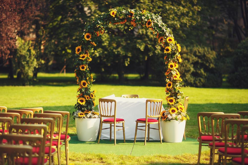 dekoracje ślubne ze słoneczników - zdjęcie 4
