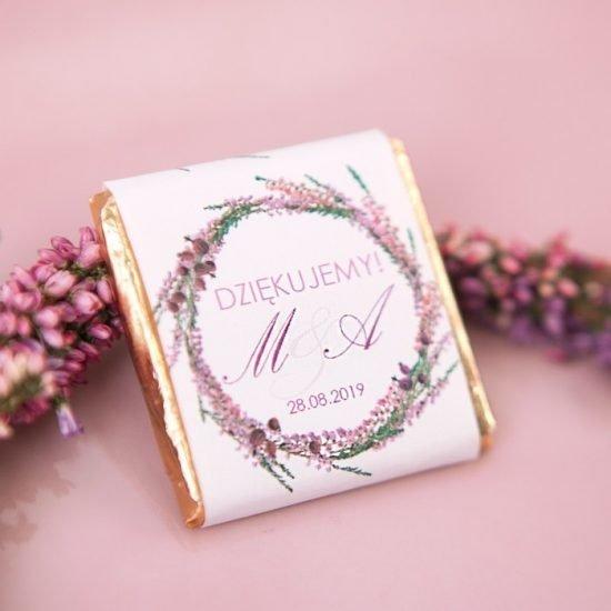 Dekoracje weselne z wrzosami - upominek