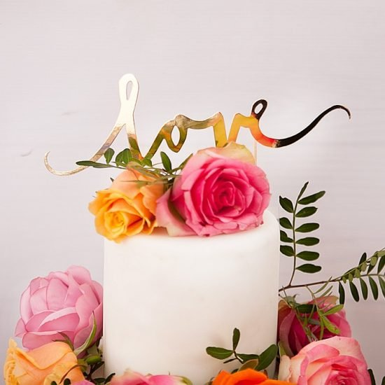 Nowoczesne dekoracje weselne - tort