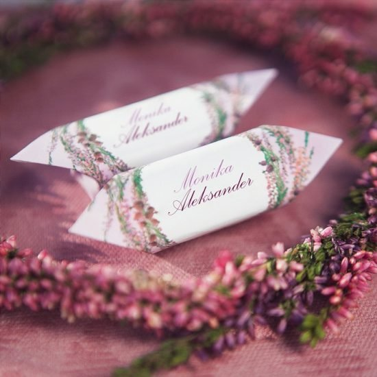 Dekoracje weselne z wrzosami - krówki