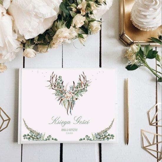 Dekoracje weselne w stylu boho - księga gości