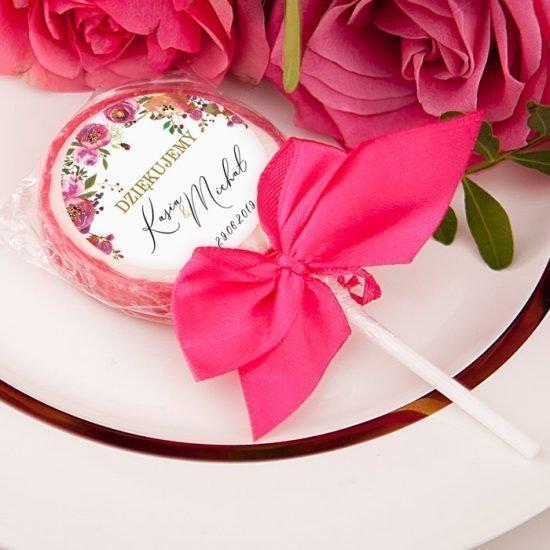 Nowoczesne dekoracje weselne - upominki lizaki