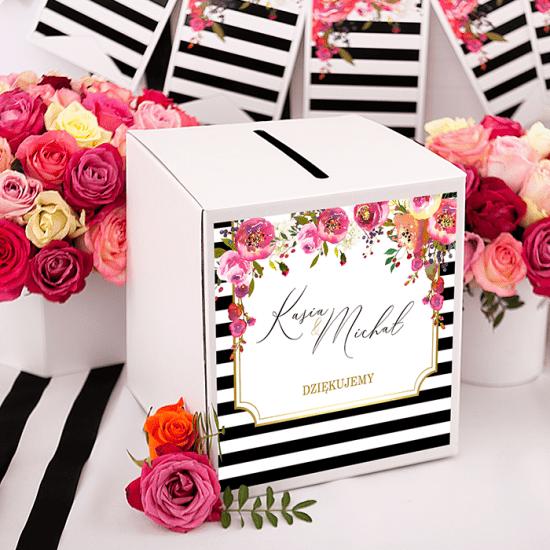 Nowoczesne dekoracje weselne - -pudełko na koperty