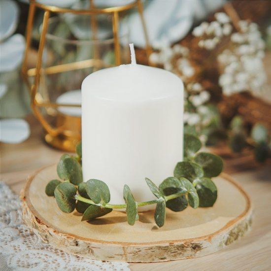 Dekoracje weselne w stylu boho - świeca