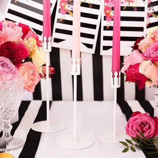 Nowoczesne dekoracje weselne - świece