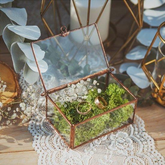 Dekoracje weselne w stylu boho - szkatułka na obrączki