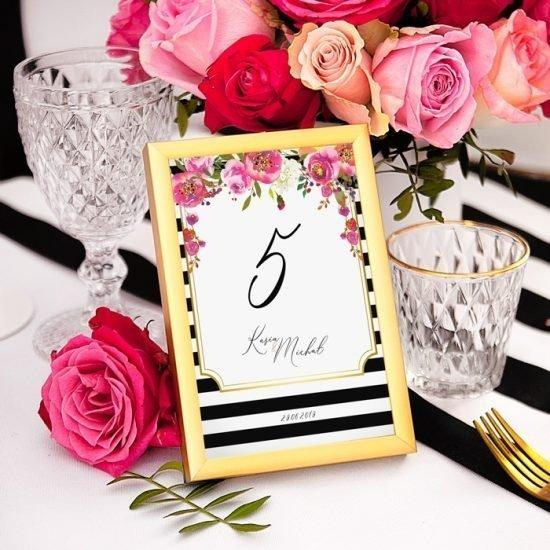 Nowoczesne dekoracje weselne - dekoracja stołu