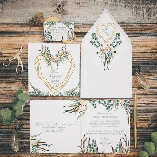 Dekoracje weselne w stylu boho - papeteria