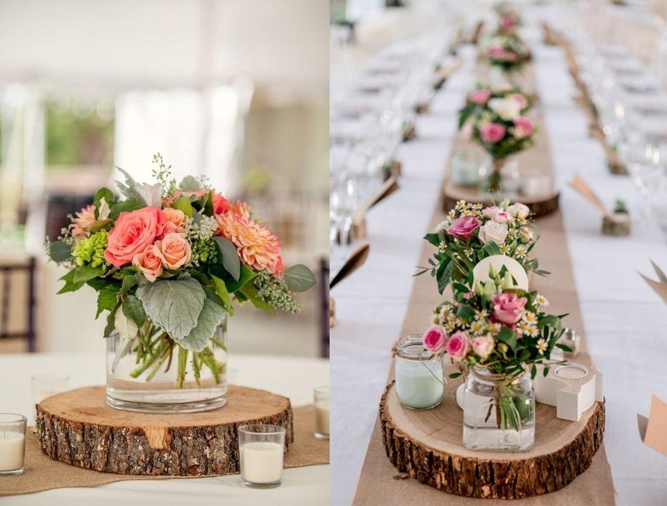 Dekoracje weselne z drewna - zdjęcie 1