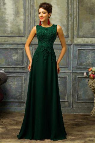 zielona sukienka na wesele