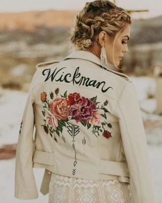 skórzana kurtka na ślub