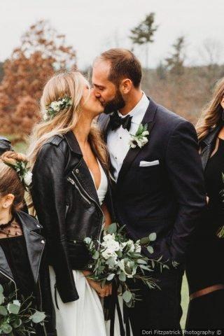dodatki ślubne 2020 - skórzane kurtki
