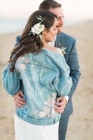 jeansowa kurtka na ślub