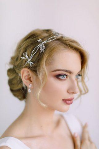 srebrna ozdoba do włosów