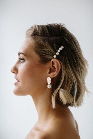 spinka do włosów z perłami na ślub