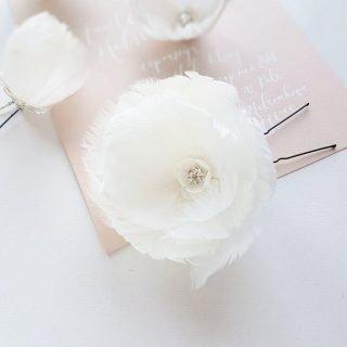 spinki ślubne z kwiatami