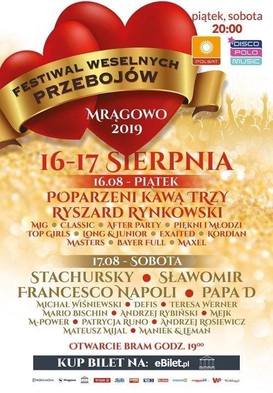 Festiwal Weselnych Przebojów Mrągowo 2019
