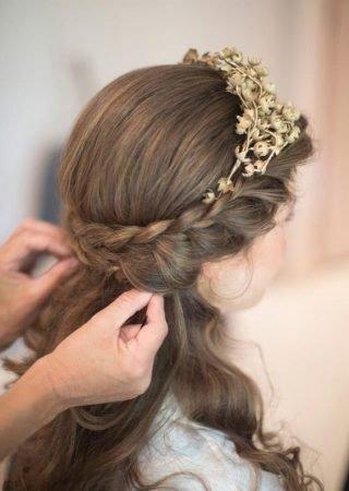 Fryzury na wesele dla dziewczynek - zdjęcie 5