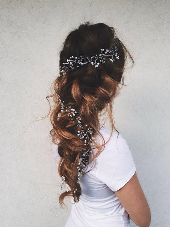 długie fryzury ślubne