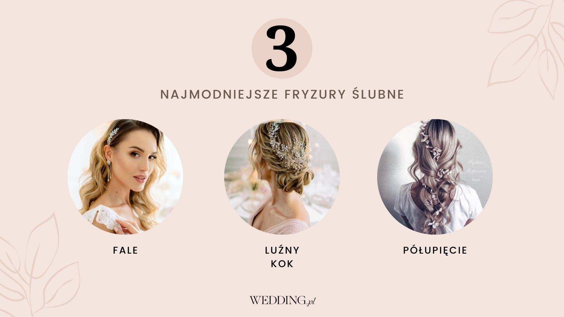modne fryzury ślubne trendy