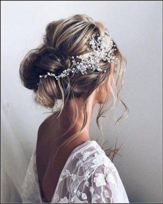 fryzury ślubne włosy półdługie cienkie