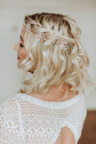 Krótkie fryzury ślubne z cienkich włosów