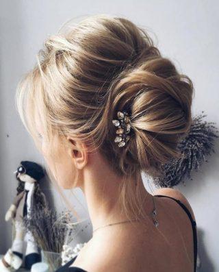 fryzury ślubne rzadkie włosy - kok