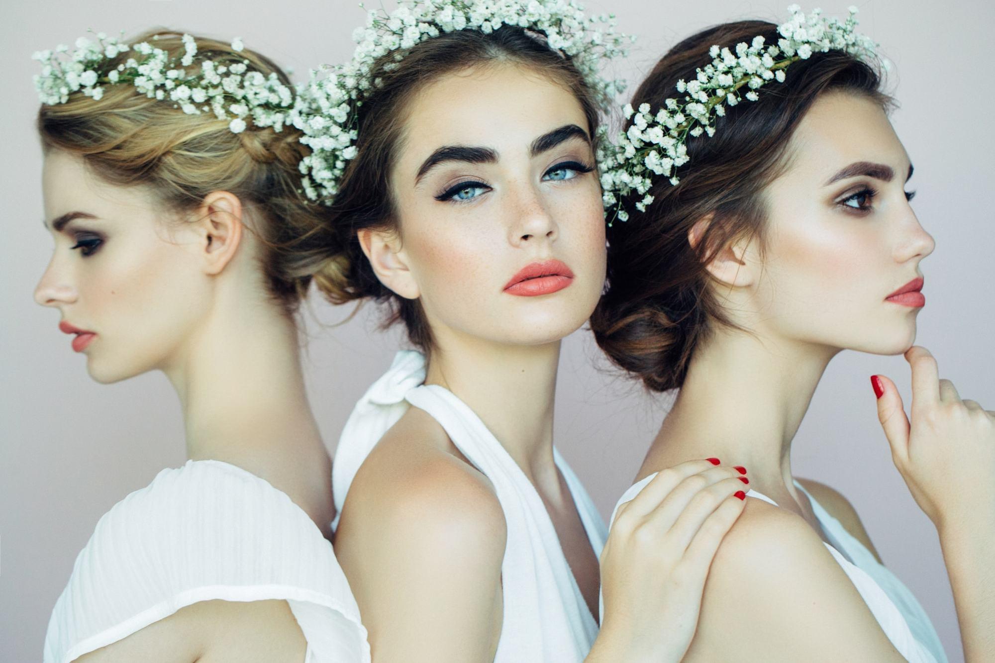 Fryzury ślubne dla okrągłej twarzy