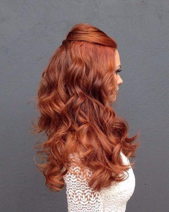 Fryzury ślubne dla rudych włosów - 1